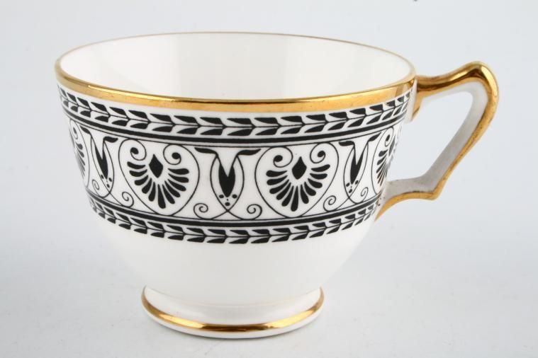 Crown Staffordshire - Black Victoria - Teacup - Footed