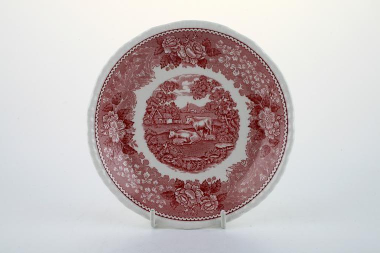 Adams - English Scenic - Pink - Tea Saucer
