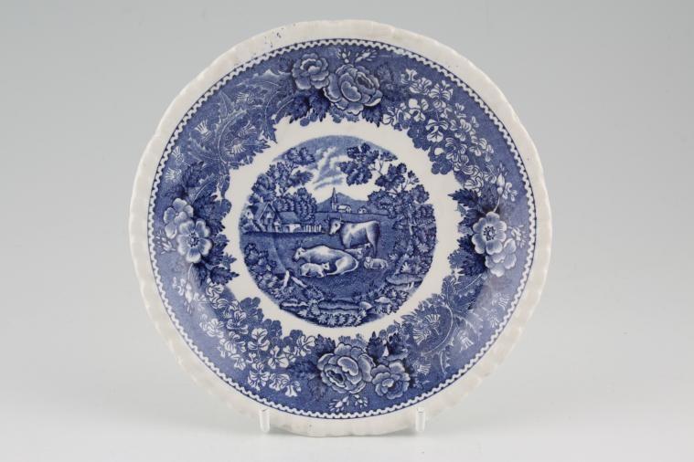 Adams - English Scenic - Blue - Old Backstamp - Tea Saucer