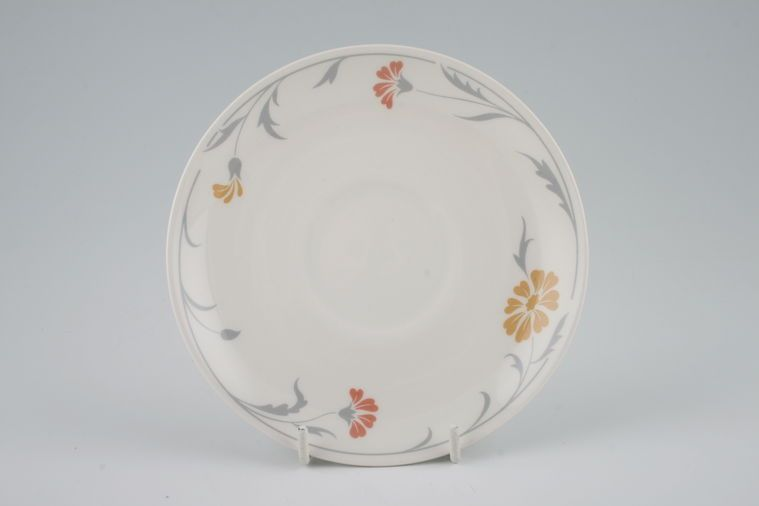 Johnson Brothers - Lugano - Orange and terracotta flowers - Tea Saucer
