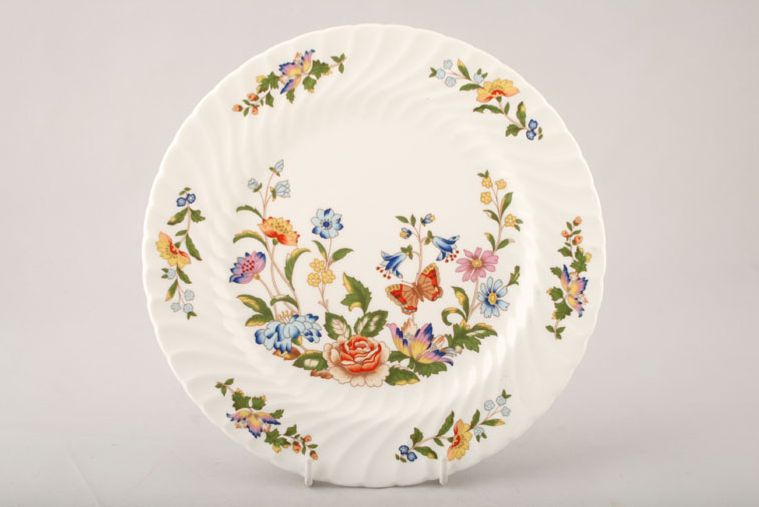 Aynsley - Cottage Garden - Swirl Shape - Tea / Side / Bread & Butter Plate