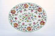 Minton - Haddon Hall - Green Edge - Oval Plate / Platter - 10 1/2""