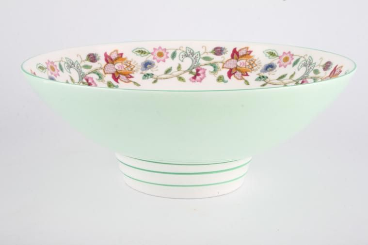 Minton - Haddon Hall - Green Edge - Serving Bowl - Footed