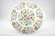 "Minton - Haddon Hall - Green Edge - Platter - 13 1/4"" - Eared"