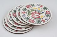 "Portmeirion - Welsh Dresser - Coaster - 4"" - Set of 6 - Round - Cork Backed"