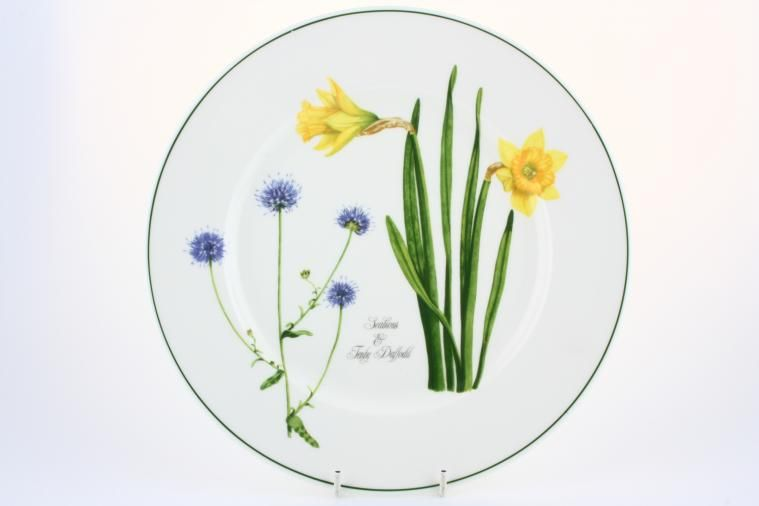 Portmeirion - Welsh Wild Flowers - Dinner Plate - Scabious & Tenby daffodil