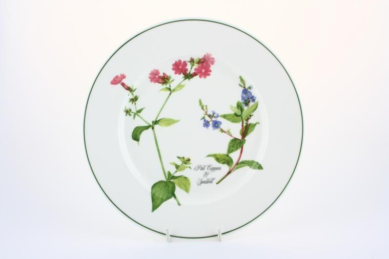 Portmeirion - Welsh Wild Flowers - Starter / Salad / Dessert Plate - Pink Campion & Speedwell
