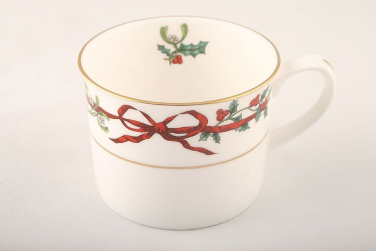 Royal Worcester - Holly Ribbons - Teacup - Straight Sided - Some Items Made Abroad