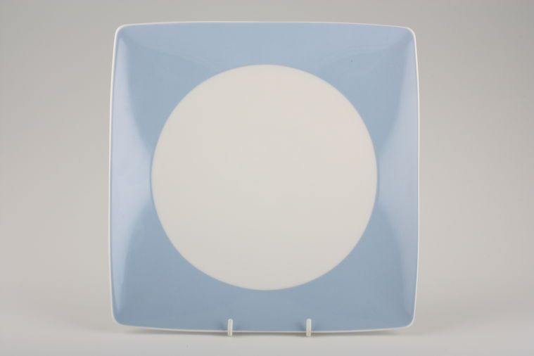 Thomas - No: Limit - Dinner Plate - Square, Pastel blue