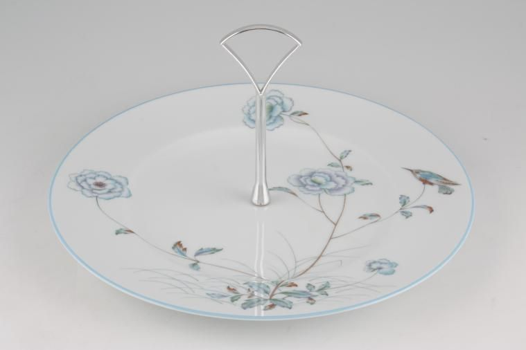 Various - Cake Stands - Cake Stand - 196 - 1 tier Noritake 'Spring Breeze' 10 1/2